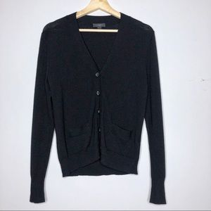 J. CREW Merino Wool V-Neck Black Cardigan Size S